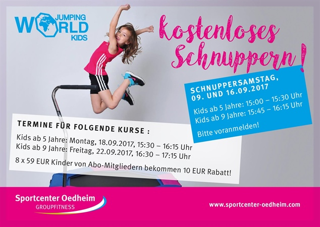 Yippie !! 🎉Unsere World Jumping™ Kids Kurse starten ab September 2017