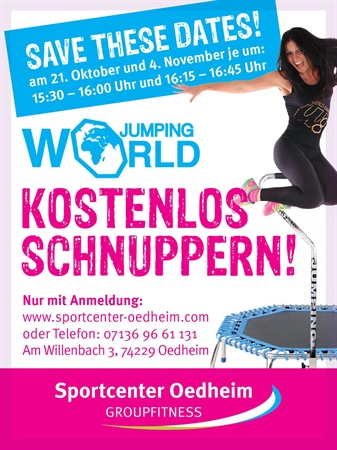 World Jumping™ Schnupperkurs im Sportcenter Oedheim