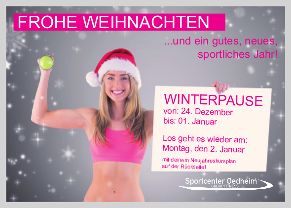 Winterpause im Sportcenter Oedheim